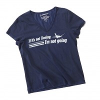 Жіноча футболка If It's Not Boeing T-Shirt Navy