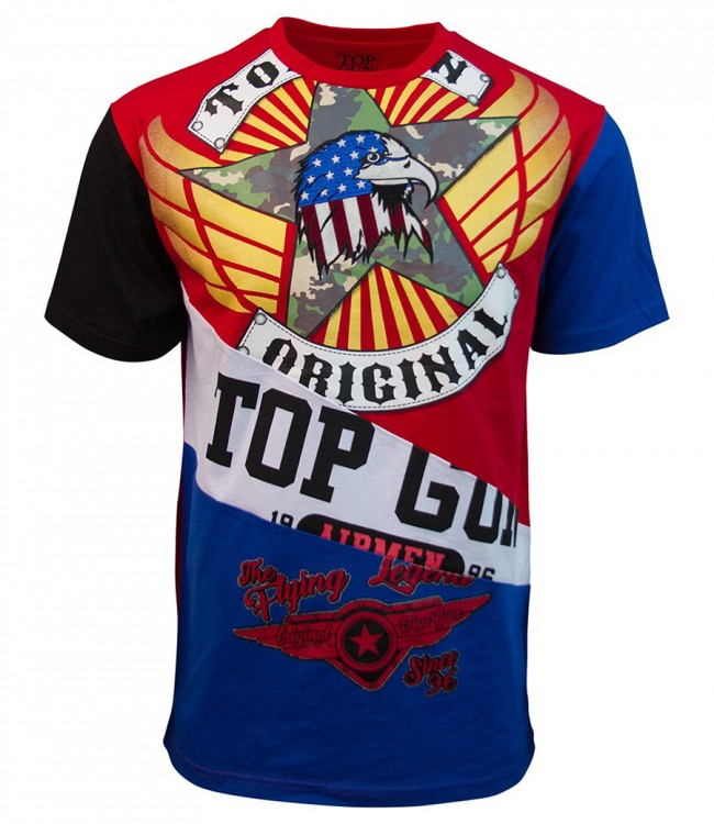 "Футболка Top Gun ""Flying Legend"" Red"