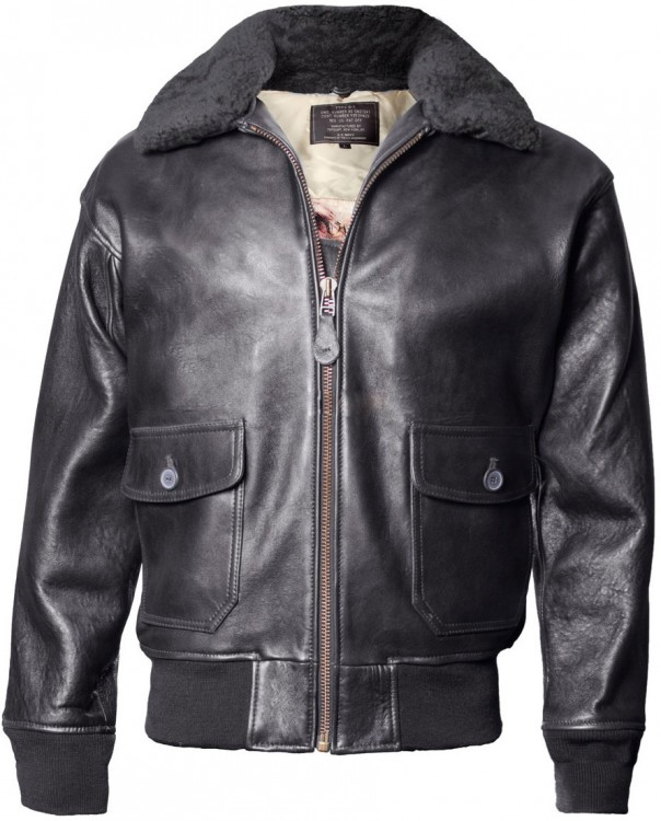 Шкіряна куртка Top Gun Military G-1 Jacket Black