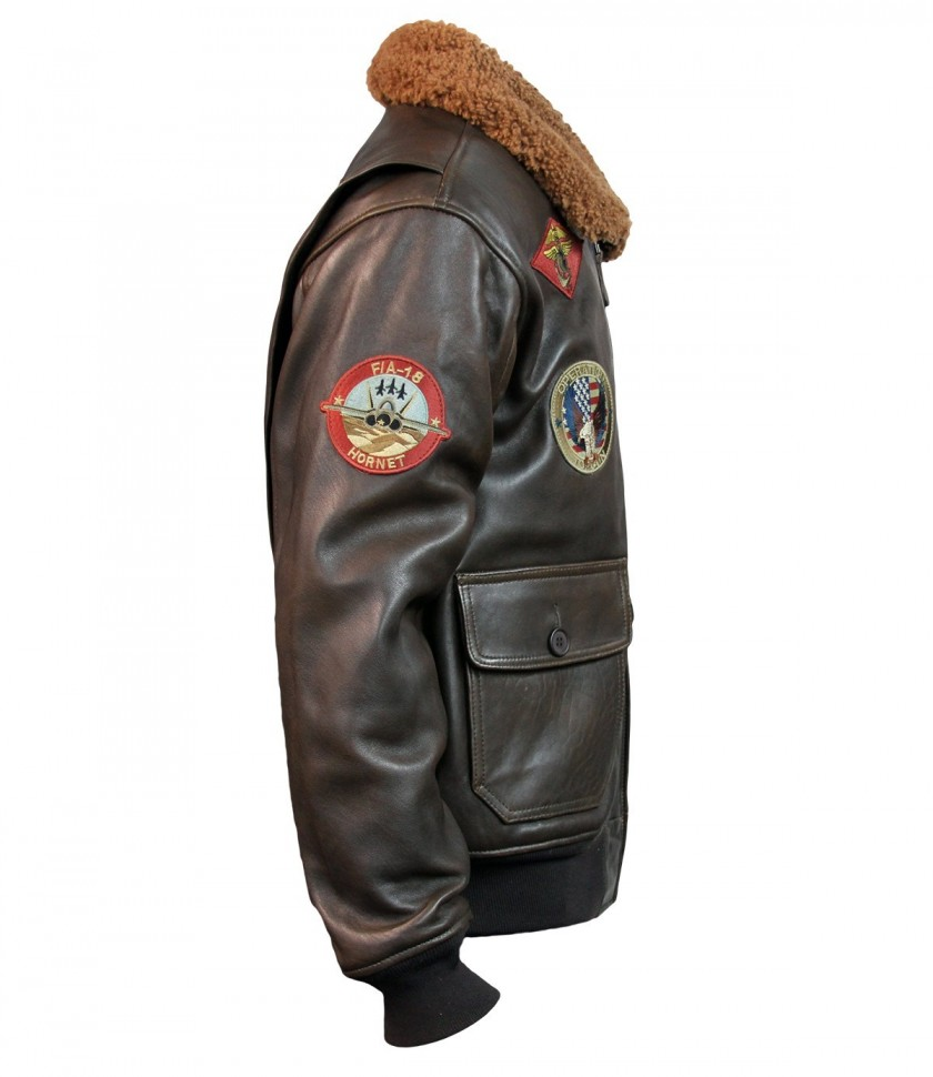 Куртка Top Gun Signature Series Jacket Brown купить в интернет ... 117e8805ac30f