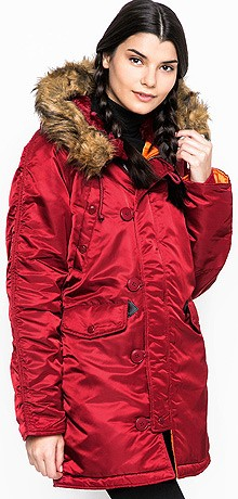 Жіноча куртка N-3B W Parka Alpha Industries Commander Red