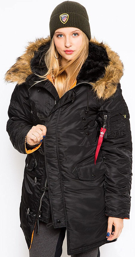 Жіноча куртка N-3B W Parka Alpha Industries Black купить в интернет ... 0935b30628b82