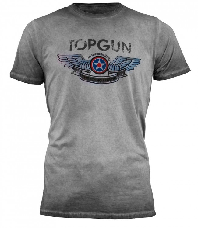 "Футболка Top Gun ""Wings Logo"" Tee Grey"