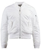 Бомбер MA-1 Slim Fit Alpha Industries White