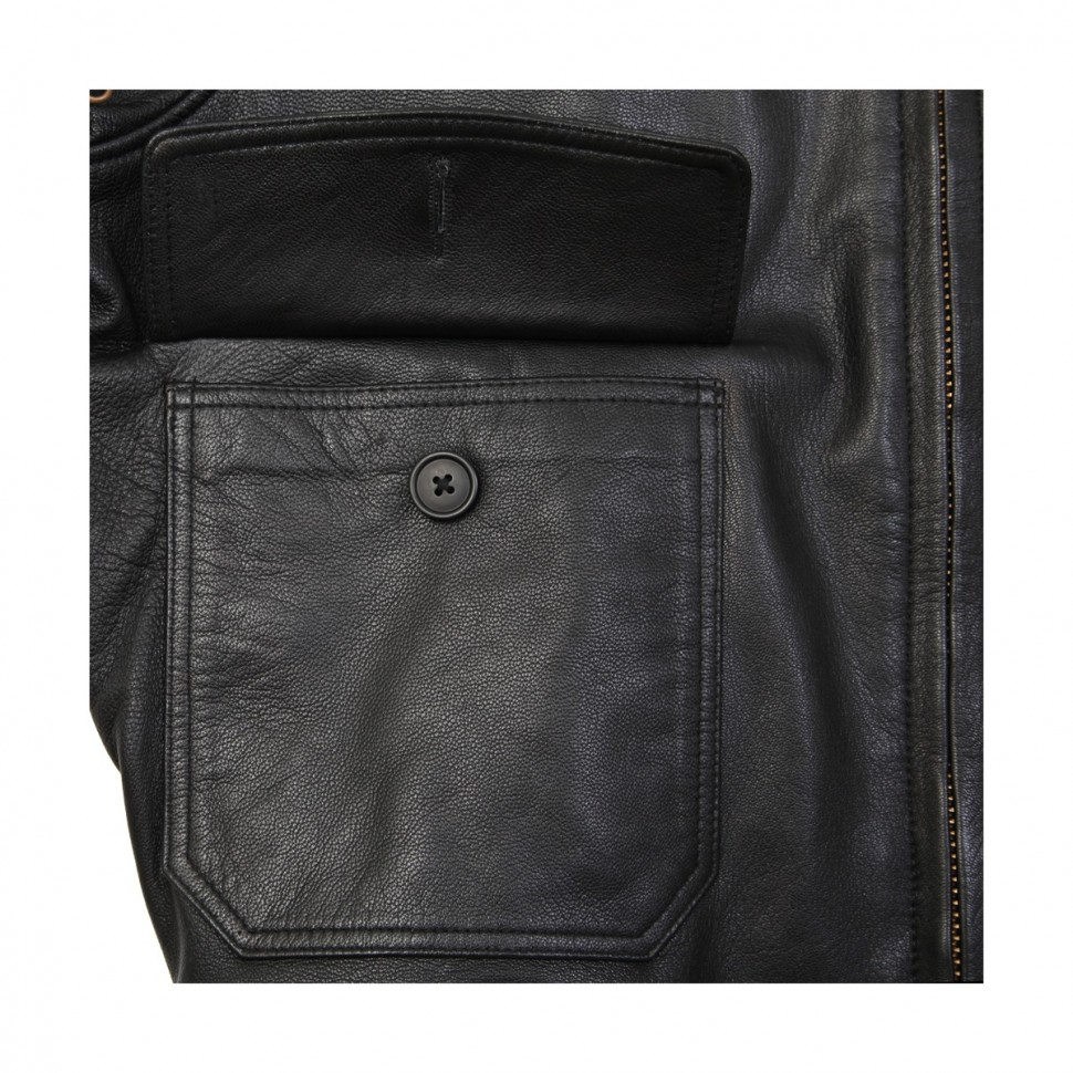 Шкіряна куртка G-1 Leather Jacket Black купить в интернет-магазине ... 8c53572347a29