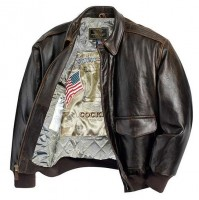 Куртка Cockpit Antique Lambskin Leather A-2 Flight Jacket Brown