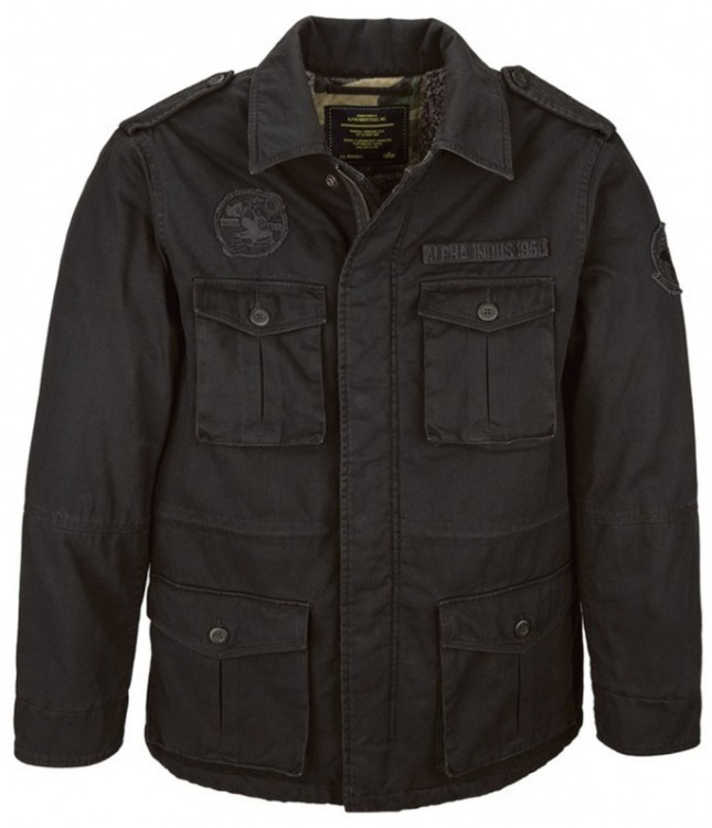 Польова куртка утеплена M-65 Altimeter Alpha Industries Black