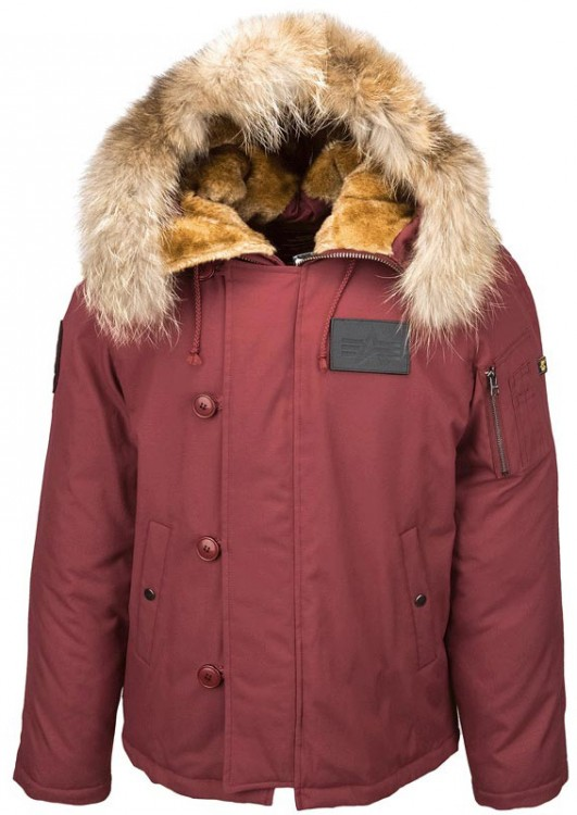 Куртка аляска N-2B Elevon Alpha Industries Alaska Red