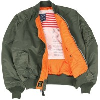 Куртка MA-1 BLOOD CHIT ALPHA INDUSTRIES Olive