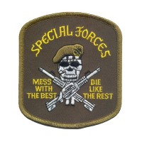 "Оригінальна нашивка Rothco ""Special Forces Mess wtih the Best"" Patch"