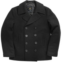 Пальто бушлат Navy Pea Coat Alpha Industries (чорне)