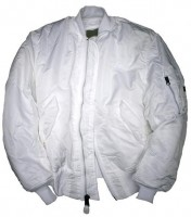 Куртка MA-1 Flight Jacket Alpha Industries  White