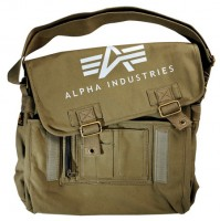 Сумка Alpha Industries Big A Canvas Courier Bag (оливкова)