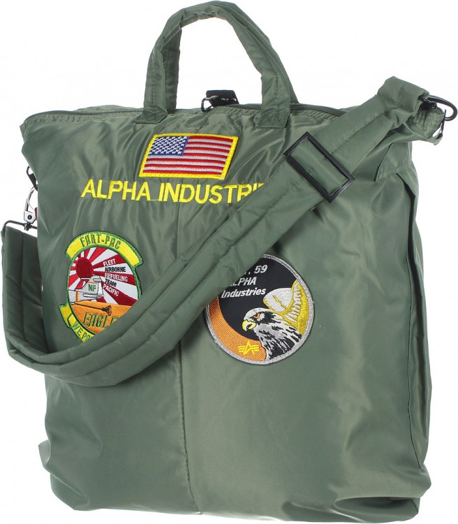 Сумка Alpha Industries Helmet Bag With Patches Olive