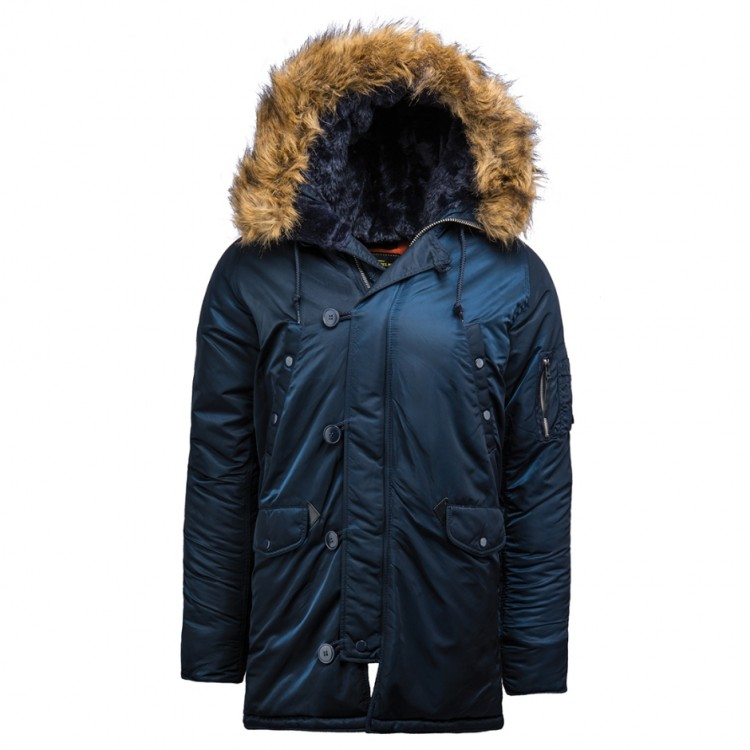 Куртка аляска Slim Fit N-3B Parka (Replica Blue)