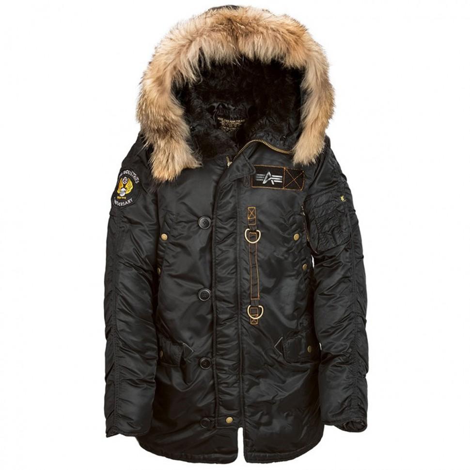20eb3da2 Куртка аляска Alpha Industries N-3B 55th Anniversary Parka Black ...