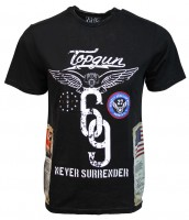 Футболка Top Gun Flags Tee (чорна)