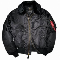 Бомбер B-15 Alpha Industries Black