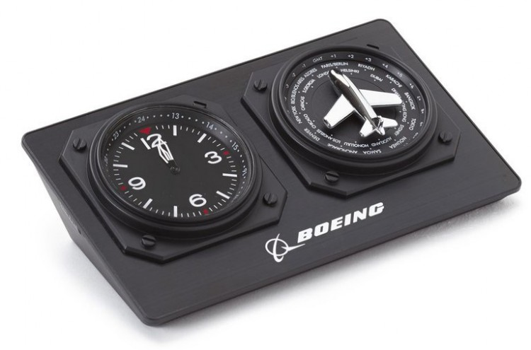 Boeing World Timer with Plane