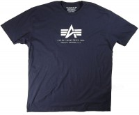 Футболка Alpha Logo Tee Alpha Industries Navy