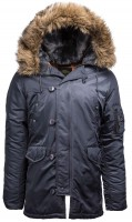 Куртка аляска Slim Fit N-3B Parka Alpha Industries Steel Blue