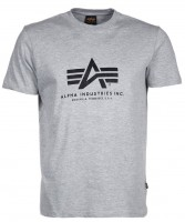 Футболка Alpha Logo Tee Alpha Industries Gray