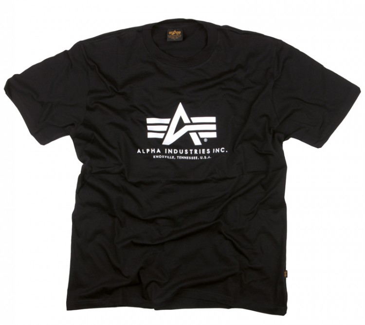 Футболка Alpha Logo Tee Alpha Industries (чорна)