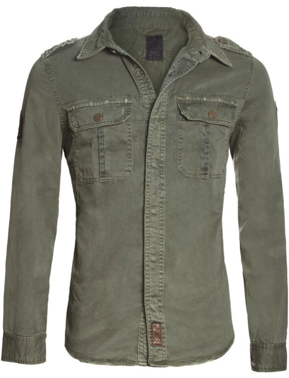 Сорочка Top Gun Men's Button Down Olive Shirt
