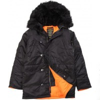 Куртка аляска Slim Fit N-3B Parka Alpha Industries W/Black Fur