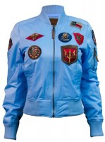 Жіночий бомбер Miss Top Gun MA-1 jacket with patches Blue