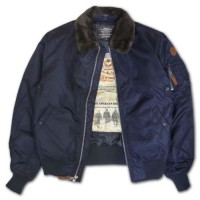 Бомбер Top Gun B-15 Men's Heavy Duty Vintage Flight Bomber Jacket Navy