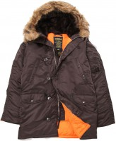 Куртка аляска Slim Fit N-3B Parka Alpha Industries Brown/Orange