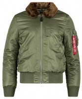 Куртка B-15 Slim Fit Alpha Industries Olive